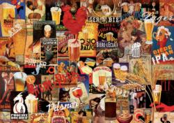 Vintage Beer Collage Adult Beverages Jigsaw Puzzle