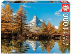 Matterhorn Mountain In Autumn Fall Jigsaw Puzzle