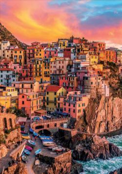 Manarola, Cinque Terre, Italy Seascape / Coastal Living Large Piece