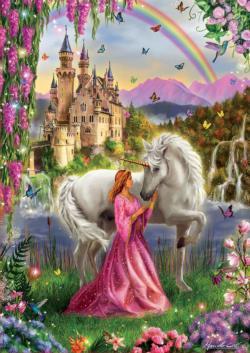 Fairy And Unicorn Unicorns Jigsaw Puzzle