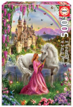 Fairy And Unicorn Unicorns Jigsaw Puzzle