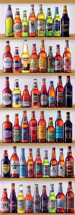 World Beers Adult Beverages Panoramic Puzzle