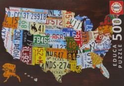 USA Map United States Jigsaw Puzzle