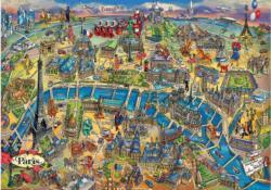Paris Map Paris Jigsaw Puzzle