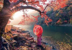 Sunrise In Katsura River, Japan Lakes / Rivers / Streams Jigsaw Puzzle