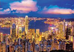 Hong Kong Skyline Night Jigsaw Puzzle