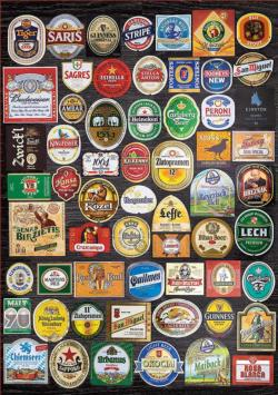 Beer Labels Collage Adult Beverages Jigsaw Puzzle