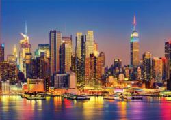 Manhattan At Night Night Jigsaw Puzzle