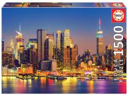 Manhattan At Night Night Jigsaw Puzzle