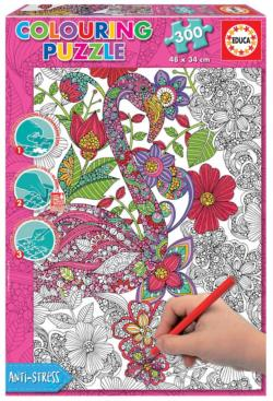 Flamingo Birds Coloring Puzzle
