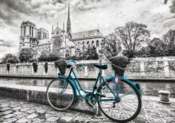 Bike Near Notre Dame Bicycles Jigsaw Puzzle