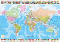 Political World Map - Scratch and Dent Maps / Geography Jigsaw Puzzle