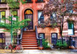 Greenwich Village, New York Bicycles Jigsaw Puzzle