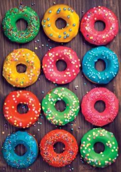 Colorful Donuts Sweets Jigsaw Puzzle