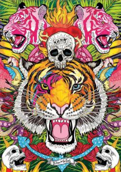 Ecstasy Tigers Jigsaw Puzzle