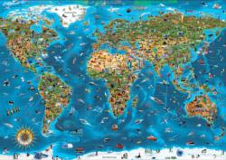 Wonders of the World Maps / Geography Jigsaw Puzzle