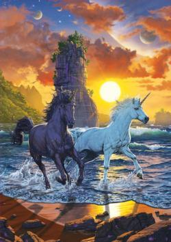 Unicorns on the Beach Unicorns Jigsaw Puzzle