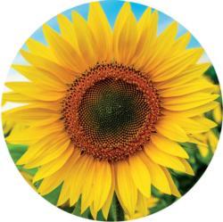 Sunflower Sunflower Round Jigsaw Puzzle