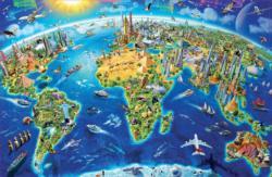 World Landmarks Maps / Geography Miniature Puzzle