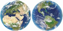 Planet Earth Space Round Jigsaw Puzzle