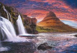 Wonderful Waterfall Sunrise / Sunset Jigsaw Puzzle