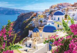 Greece – Santorini Island Seascape / Coastal Living Jigsaw Puzzle