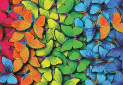 Rainbow Butterflies Collage Jigsaw Puzzle
