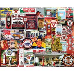 Fill Her Up Nostalgic / Retro Jigsaw Puzzle