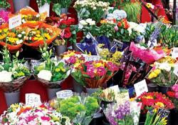 Colorful Market Flowers (Colorluxe) Photography Jigsaw Puzzle