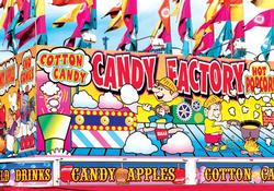 Candy Factory Fairground Concession Stand Flags Large Piece