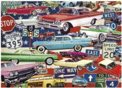 Fancy Fins & Classic Chrome Nostalgic / Retro Jigsaw Puzzle