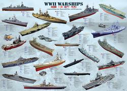 World War II Warships Pattern / Assortment Jigsaw Puzzle