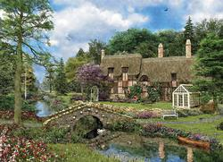 Cobble Walk Cottage Bridges Jigsaw Puzzle