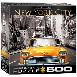 Yellow Cab (New York City) Monochromatic Jigsaw Puzzle