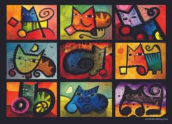Colorful Cats Graphics / Illustration Jigsaw Puzzle