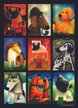 Reflective Dogs Graphics / Illustration Jigsaw Puzzle