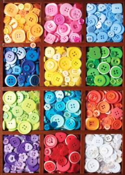Box of Buttons Pattern / Assortment Jigsaw Puzzle