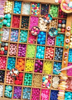 Beautiful Beads Pattern / Assortment Jigsaw Puzzle