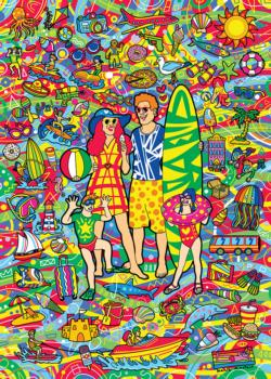 Family Vacation - Scratch and Dent Collage Jigsaw Puzzle