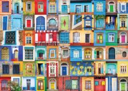 Delightful Doors and Windows Pattern / Assortment Jigsaw Puzzle