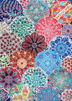 Turkish Plates Pattern / Assortment Jigsaw Puzzle
