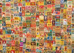 Vintage Matchboxes Pattern / Assortment Jigsaw Puzzle