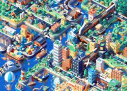 The City is Alive - Scratch and Dent Cities Jigsaw Puzzle