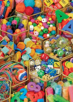 Colorful Collection Everyday Objects Jigsaw Puzzle