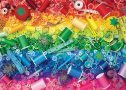 Sewing a Rainbow Pattern / Assortment Jigsaw Puzzle