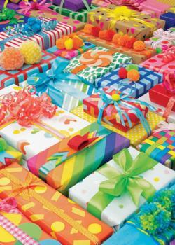 Very Pretty Presents Pattern / Assortment Jigsaw Puzzle