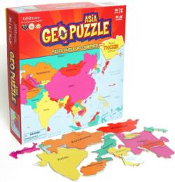 Asia Maps / Geography Children's Puzzles