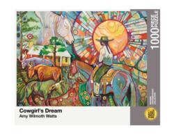 Cowgirl's Dream Horses Jigsaw Puzzle