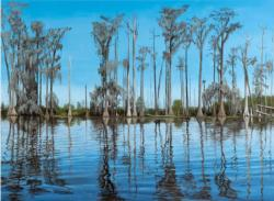 Thread of Light, Okefenokee Swamp, GA Lakes / Rivers / Streams Jigsaw Puzzle