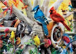 Backyard Birds Birds Jigsaw Puzzle
